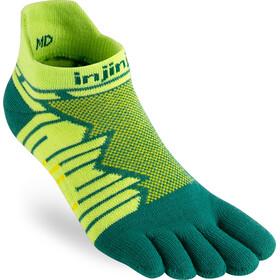Injinji Ultra Run No-Show Calze, verde/giallo